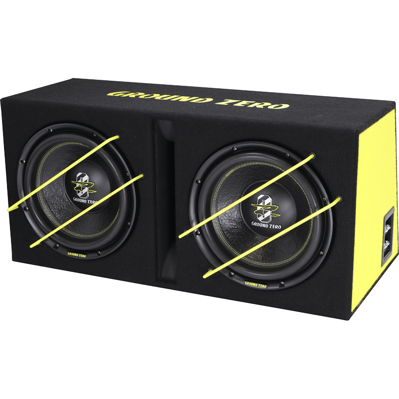 Ground Zero GZIB 2.3000XSPL power Bassreflexbox 2x12 inch 2000W