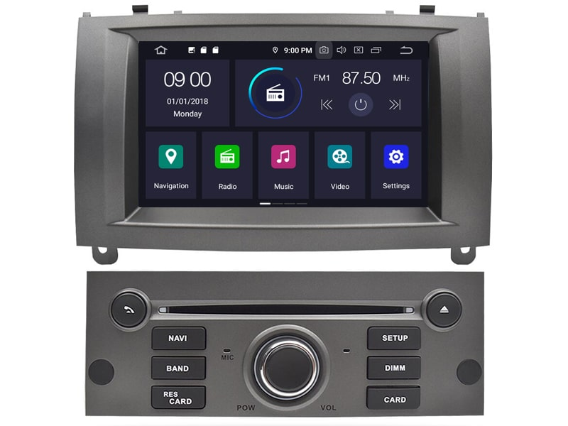 CAL-RD5588 Android 9.0 Navigatie Peugeot