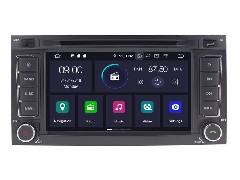 VW Android 10.0 Navigatie voor o.a. VW Touareg, T5 Multivanen Transporter