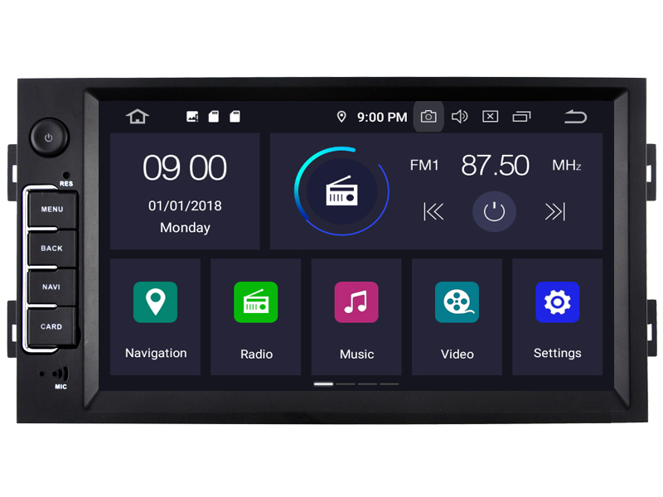 Peugeot Android 9.0 CAL-RVF5560 Navigatie voor Peugeot 308