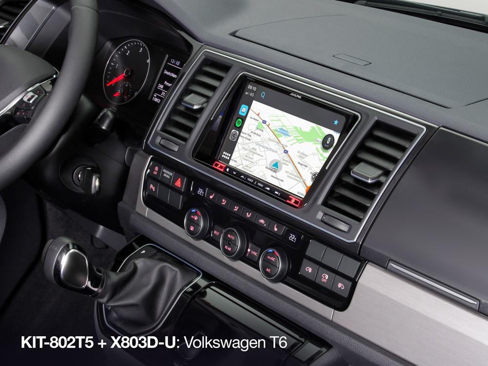 Alpine X803D-U incl. KIT-802T5 Volkswagen T5 en T6