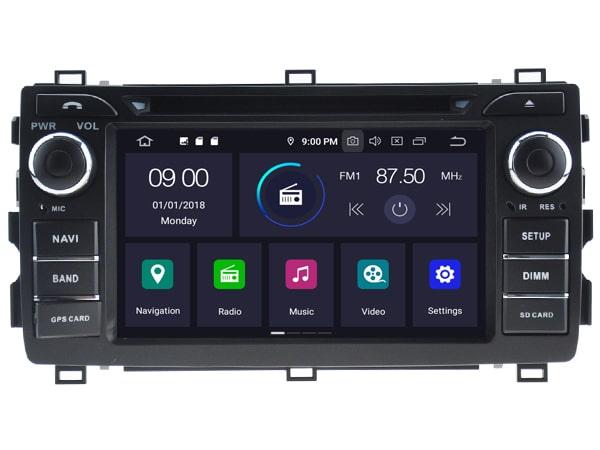 Toyota Android 9.0 Navigatie voor Toyota Auris